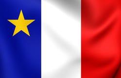 Bandeira do Acadia, Canadá Imagens de Stock Royalty Free