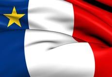 Bandeira do Acadia, Canadá Imagem de Stock Royalty Free