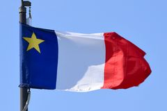 Bandeira do Acadia, Nova Scotia, Canadá Foto de Stock Royalty Free