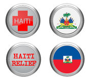Bandeira do ADN do ícone de Haiti Imagem de Stock Royalty Free