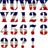 Bandeira do alfabeto do Estados Unidos Fotografia de Stock Royalty Free
