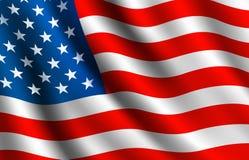Bandeira do americano Fotos de Stock