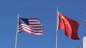 Bandeira do americano e dos chinees em San Francisco filme