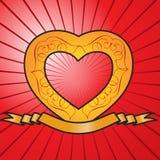 Bandeira do aniversário do coração ilustração royalty free