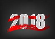 bandeira do ano 2018 novo Foto de Stock