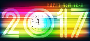 Bandeira 2017 do ano novo feliz ilustração stock