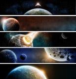 Bandeira do apocalipse da terra do planeta ilustração stock