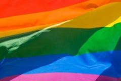 Bandeira do arco-íris foto de stock
