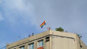 Bandeira do arco-íris Fotografia de Stock Royalty Free