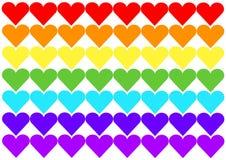 Bandeira do arco-íris do coração Fotos de Stock