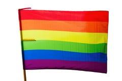 Bandeira do arco-íris Isolado sobre o branco Foto de Stock Royalty Free