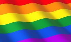 Bandeira do arco-íris somente Foto de Stock Royalty Free