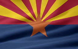 Bandeira do Arizona Fotografia de Stock Royalty Free