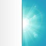 Bandeira do azul da luz do sol ilustração do vetor
