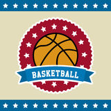 Bandeira do basquetebol Foto de Stock Royalty Free