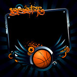 Bandeira do basquetebol Foto de Stock