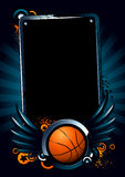 Bandeira do basquetebol Fotografia de Stock