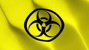 Bandeira do Biohazard que acena no vento ilustração royalty free