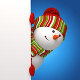 Bandeira do boneco de neve Foto de Stock Royalty Free