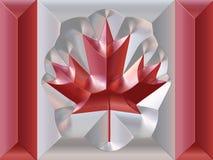 Bandeira do canadense do metal ilustração do vetor