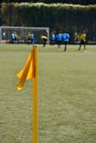 Bandeira do canto do campo de futebol Foto de Stock