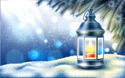 Bandeira do cartaz do feriado do ano novo do Natal do vetor fotos de stock
