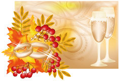 Bandeira do casamento do outono ilustração do vetor