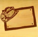 Bandeira do chapéu de cowboy Imagem de Stock