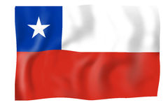 Bandeira do Chile Imagem de Stock