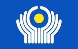 Bandeira do CIS Foto de Stock Royalty Free