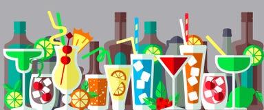 Bandeira do cocktail do álcool Fotografia de Stock Royalty Free