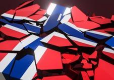 Bandeira do colapso do estado de Reino Unido 3d rendido ilustração royalty free