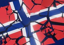 Bandeira do colapso do estado de Reino Unido 3d rendido ilustração do vetor