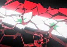 Bandeira do colapso do estado de Reino Unido 3d rendido ilustração stock