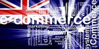 Bandeira do comércio electrónico de Austrália ilustração do vetor