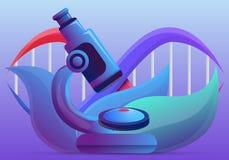 Bandeira do conceito da gen?tica, estilo dos desenhos animados ilustração stock