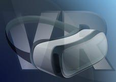 Bandeira do conceito dos óculos de proteção de Vr, estilo dos desenhos animados ilustração stock
