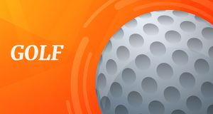 Bandeira do conceito do esporte do golfe, estilo dos desenhos animados ilustração stock