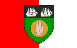 Bandeira do condado Louth na Irlanda foto de stock royalty free