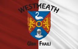 A bandeira do condado Westmeath é um condado na Irlanda ilustração do vetor