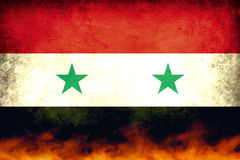 Bandeira do conflito de Síria Imagem de Stock