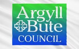 Bandeira do conselho de Argyll e de Bute de Escócia, Reino Unido de G ilustração do vetor