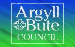Bandeira do conselho de Argyll e de Bute de Escócia, Reino Unido de G ilustração royalty free
