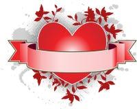 Bandeira do coração ilustração do vetor