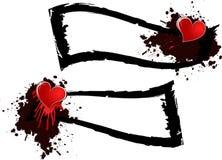 Bandeira do coração Foto de Stock Royalty Free