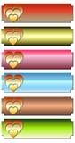 Bandeira do coração Imagens de Stock Royalty Free
