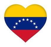 Bandeira do coração da Venezuela ilustração stock