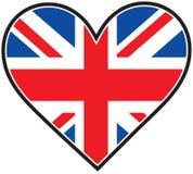 Bandeira do coração de Inglaterra ilustração stock