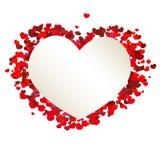 Bandeira do coração do Valentim Foto de Stock