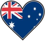 Bandeira do coração de Austrália Fotografia de Stock